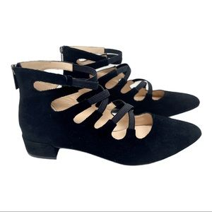 Sacha London caged suede pointed toe flats